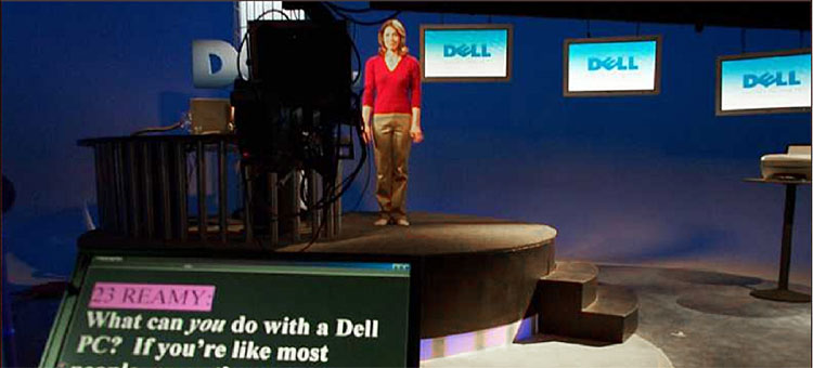 Best Teleprompting - Staging for Dell Computers